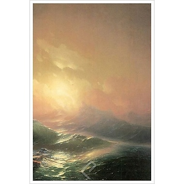 La neuvième vague (détail de droite) de Aiwasowskij, toile tendue, 24 x 36 po