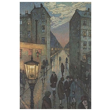 City Corner by Baluschek, Canvas, 24