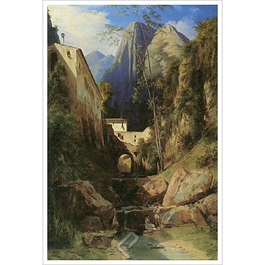 Valley near Amalfi by Blechen, Canvas, 24