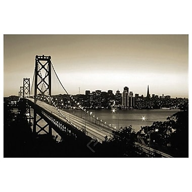 San Francisco (black and white), Stretched Canvas, 24