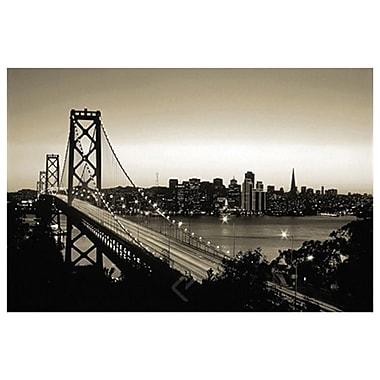 San Francisco (noir et blanc), toile tendue, 24 x 36 po