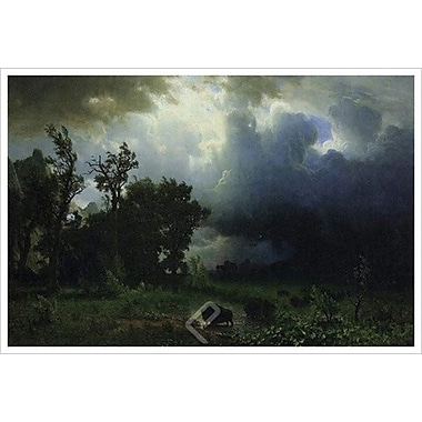 Bison Trail by Bierstadt, Canvas, 24