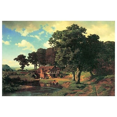 Country Mill by Bierstadt, Canvas, 24