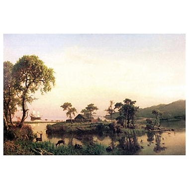 Gosnold Island by Bierstadt, Canvas, 24
