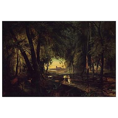 Chemin forestier près de Spandau de Blechen, toile, 24 x 36 po