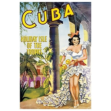 Cuba Holiday Isle of Tropics, Stretched Canvas, 24