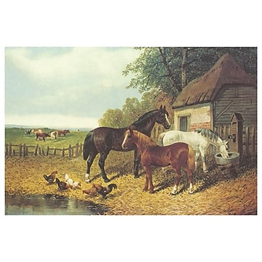 In the Farmyard by Herring Jr, Canvas, 24