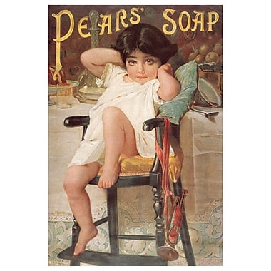 Pear's Soap, toile tendue, 24 x 36 po