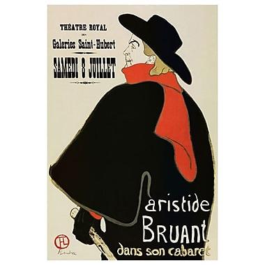 Aristide Bruant de Toulouse-Lautrec, toile, 24 x 36 po