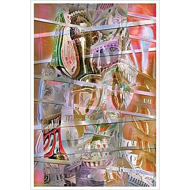 Babel rose de Davis, toile, 24 x 36 po