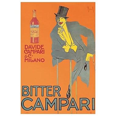 Bitter Campari, Stretched Canvas, 24