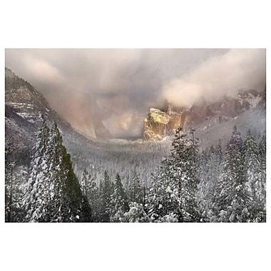 Tempête de neige à Yosemite de Davis, toile de 24 x 36 po