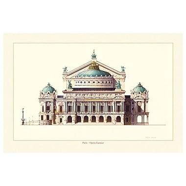 Opéra Garnier de Patrignani, toile de 24 x 36 po