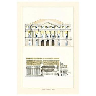 Teatro La Scala by Patrignani, Canvas, 24