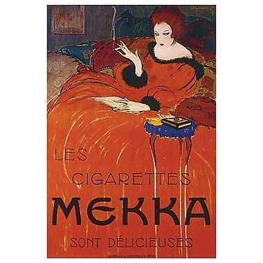 Les Cigarettes Mekka by Loupot, Canvas, 24