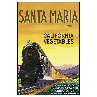 Santa Maria California Vegetables, toile de 24 x 36 po