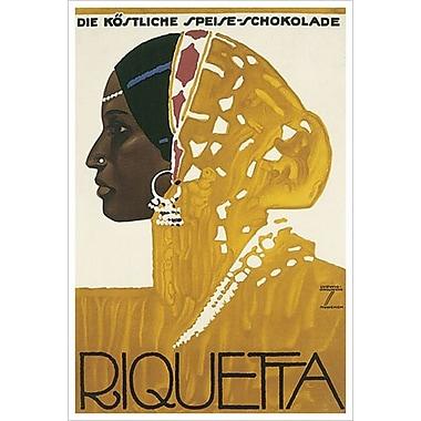 Riquetta Schokolade de Hohlwein, toile de 24 x 36