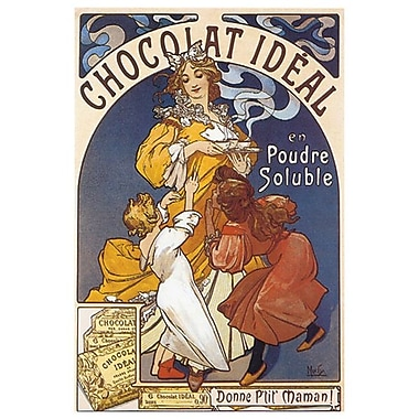 Chocolat Ideal by Mucha, Canvas, 24
