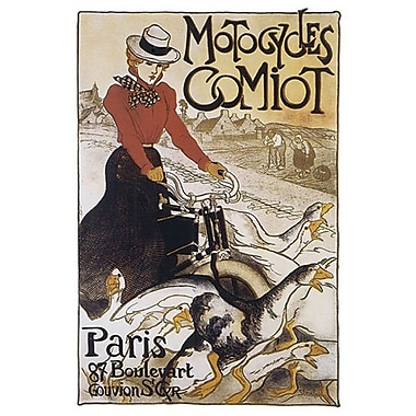 Motocycles Comiot by Steinlen, Canvas, 24