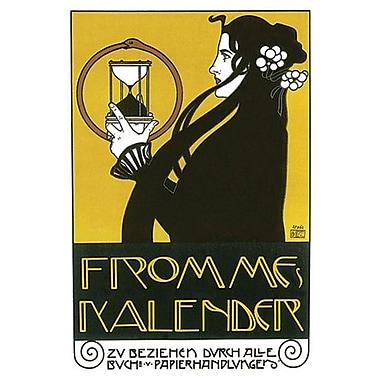 Fromme's Kalender de Koloman, toile, 24 x 36 po