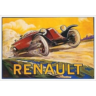 Renault, toile tendue, 24 x 36 po