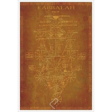 Parchment Kabbalah, Stretched Canvas, 24