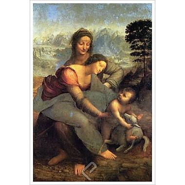 La Vierge, l'Enfant Jésus et sainte Anne de da Vinci, toile, 24 x 36 po