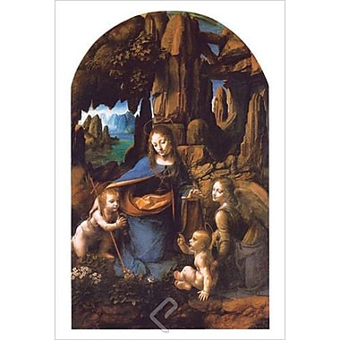 Madonna of Rocks by da Vinci, Canvas, 24
