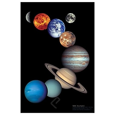 NASA Système solaire, toile tendue, 24 x 36 po