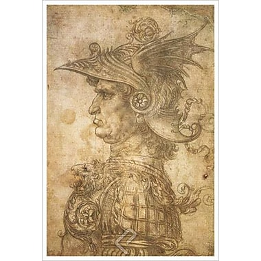Bust of a Warrior by da Vinci, Canvas, 24