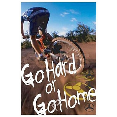Vélo – Go Hard or Go Home, toile, 24 x 36 po