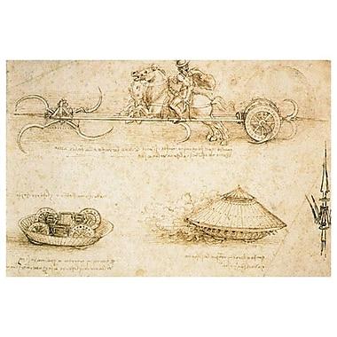 Modèle de voiture blindée de da Vinci, toile, 24 x 36 po