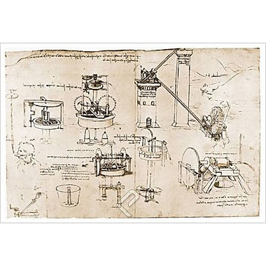 Suction and Archimedes by Da Vinci, Canvas, 24