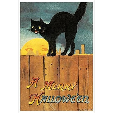 A Merry Halloween by Clapsaddle, Canvas, 24