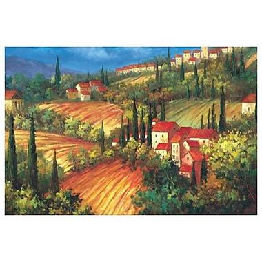 Village de Vinci de Per Mattin, toile, 24 x 36 po