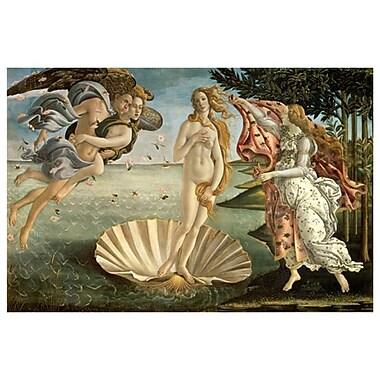 Birth of Venus de Botticelli, toile, 24 x 36 po
