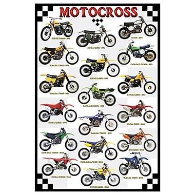 Motocross, toile tendue, 24 po x 36 po