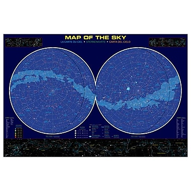 Map of the Sky, Stretched Canvas, 24