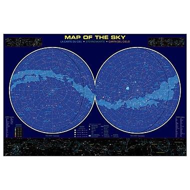 Carte du ciel, toile tendue, 24 po x 36 po
