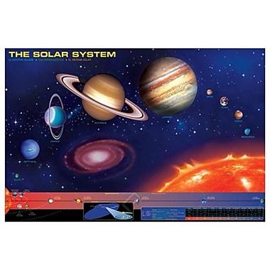 Le système solaire, le Soleil et les planètes, toile tendue, 24 po x 36 po