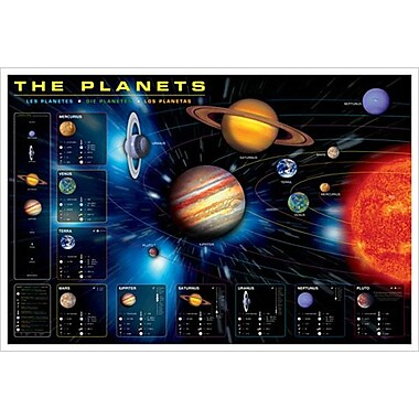 Planets, Stretched Canvas, 24