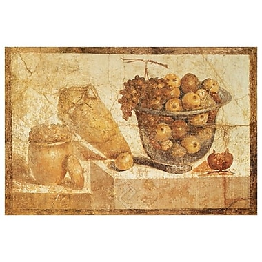 Roman Art - Bowl with Fruits, Stretched Canvas, 24