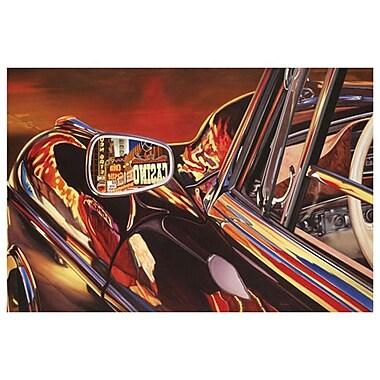 Mercedes 220 1956 by Reynolds, Canvas, 24