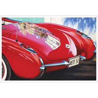 Corvette 1957 Miami by Reynolds, Canvas, 24