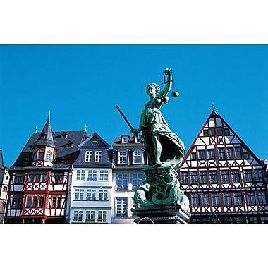 Justitia Statue - Frankfurt, Stretched Canvas, 24