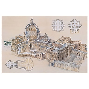 St. Peter's Basilica by Derrien, Canvas, 24