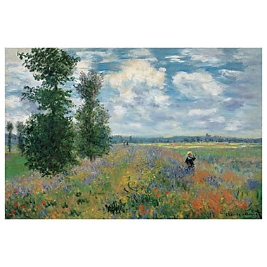 The Poppy Field by Monet, Canvas, 24