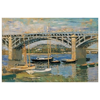 Le pont d'Argenteuil par Monet, toile, 24 po x 36 po