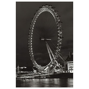 London Eye Ferris Wheel, Stretched Canvas, 24