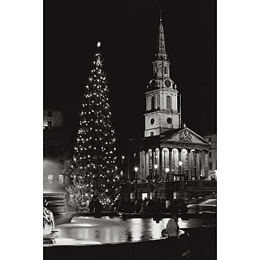 Église St Martin in the Fields, toile tendue, 24 po x 36 po